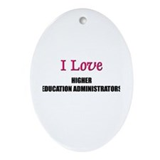 I Love My ACADEMIC LIBRARIAN Oval Ornament