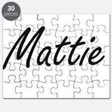 Mattie artistic Name Design Puzzle