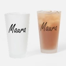 Maura artistic Name Design Drinking Glass