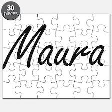 Maura artistic Name Design Puzzle