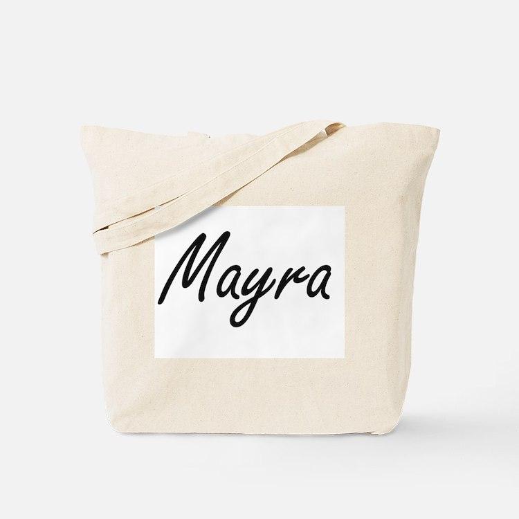 Mayra artistic Name Design Tote Bag