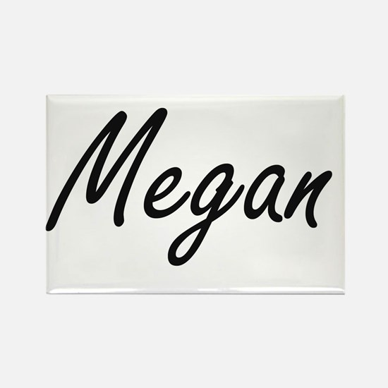 Megan artistic Name Design Magnets