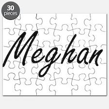 Meghan artistic Name Design Puzzle
