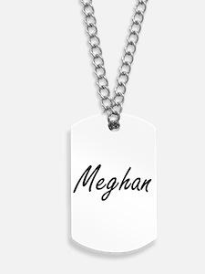 Meghan artistic Name Design Dog Tags