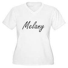 Melany artistic Name Design Plus Size T-Shirt