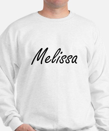 Melissa artistic Name Design Jumper