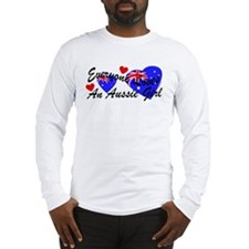 Loves an Aussie Girl Long Sleeve T-Shirt