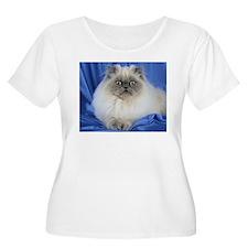 Cute Funny Himalayan Cat Plus Size T-Shirt