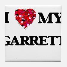 I Love MY Garrett Tile Coaster