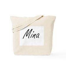 Mina artistic Name Design Tote Bag