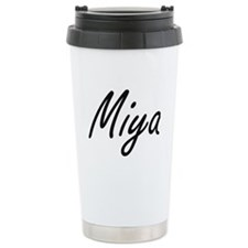 Miya artistic Name Desi Travel Mug