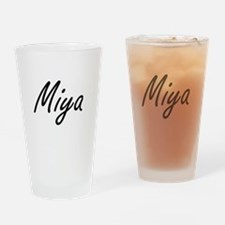 Miya artistic Name Design Drinking Glass