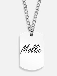 Mollie artistic Name Design Dog Tags