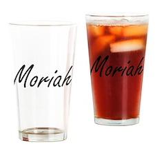 Moriah artistic Name Design Drinking Glass