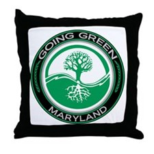 Going Green Maryland (Tree) Throw Pillow