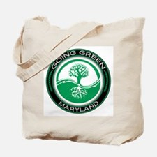 Going Green Maryland (Tree) Tote Bag