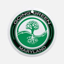 Going Green Maryland (Tree) Ornament (Round)