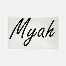 Myah artistic Name Design Magnets