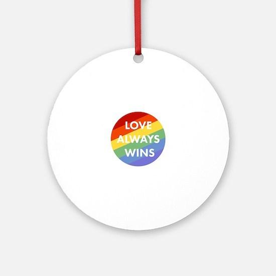Cute Pride Round Ornament