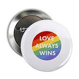 Love wins Buttons