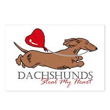 Postcards (8) w/ Longhair Piebald Dachshund