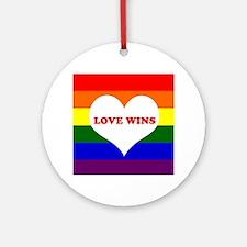 Love Wins Ornament (Round)