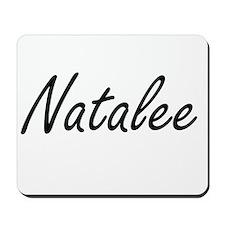 Natalee artistic Name Design Mousepad