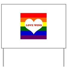 Love Wins Yard Sign