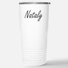 Nataly artistic Name De Travel Mug
