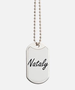 Nataly artistic Name Design Dog Tags