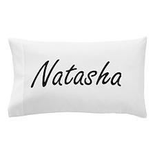 Natasha artistic Name Design Pillow Case