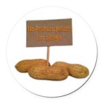 Peanut Allergy Round Car Magnet