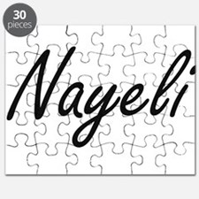 Nayeli artistic Name Design Puzzle