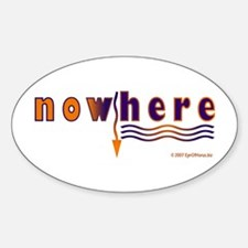 NowHere Oval Decal