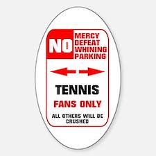 no parking tennis Sticker (Oval)