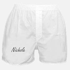 Nichole artistic Name Design Boxer Shorts
