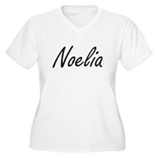 Noelia artistic Name Design Plus Size T-Shirt