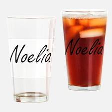 Noelia artistic Name Design Drinking Glass