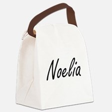 Noelia artistic Name Design Canvas Lunch Bag