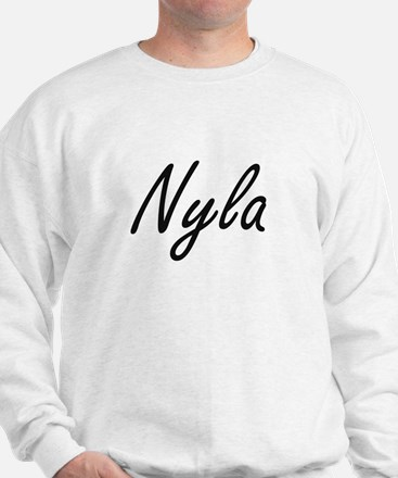 Nyla artistic Name Design Sweater