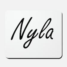 Nyla artistic Name Design Mousepad