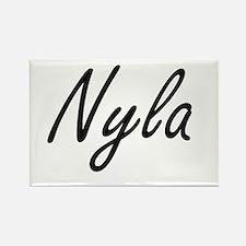 Nyla artistic Name Design Magnets