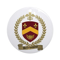 BELLEHUMEUR Family Crest Ornament (Round)