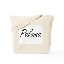 Paloma artistic Name Design Tote Bag