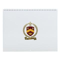 BELLEHUMEUR Family Crest Wall Calendar