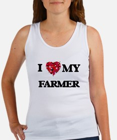 I Love MY Farmer Tank Top