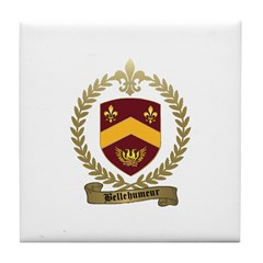 BELLEHUMEUR Family Crest Tile Coaster