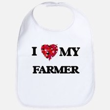 I Love MY Farmer Bib