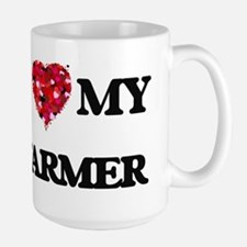 I Love MY Farmer Mugs