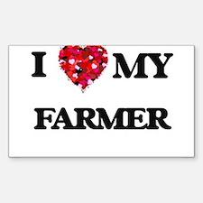 I Love MY Farmer Decal